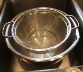 strainer in sink