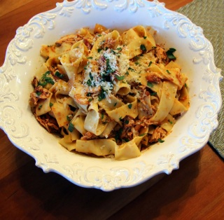 pappardelle with chicken ragu