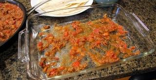 layering tortilla casserole