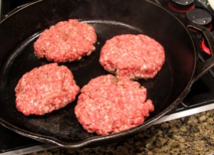 pan seared burgers